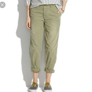 Madewell Chimala Chambray Baggy Trousers Green